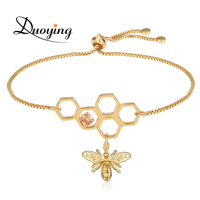 Us 7 19 28 Off Duoying Honeycomb Bee Bracelet Adjule Hemp Jewelry Save The Honey Gifts For Beekeepers Women Dropping Etsy In