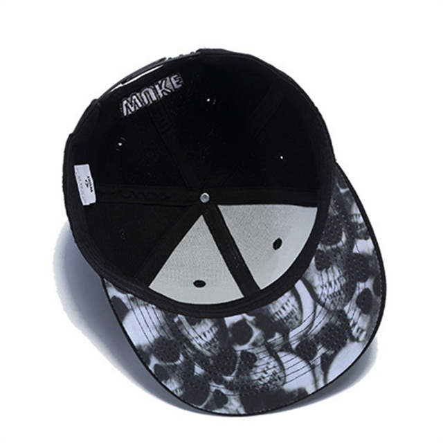 Online Shop Fashion embroidery alien in spade Baseball Cap print skull  inside black Hats Casual Fitted Active Style Snapback For Unisex  990d9ba033ab