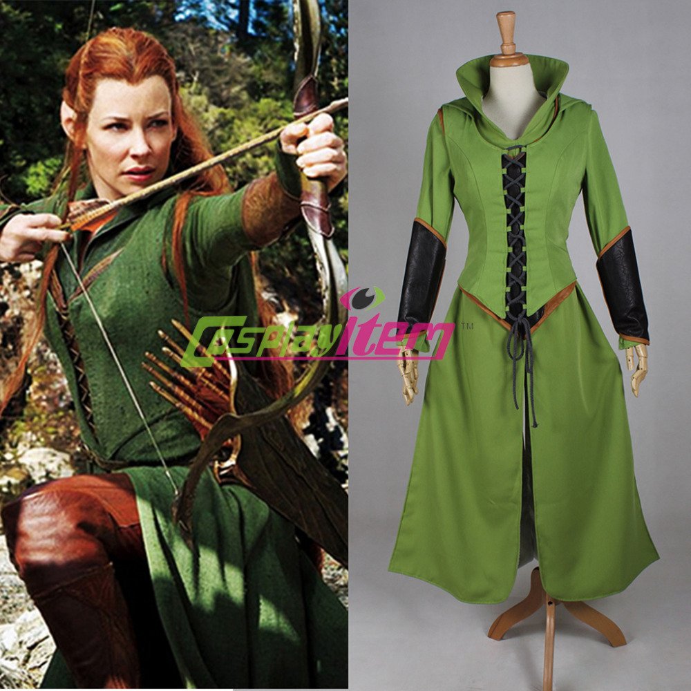Custom Made Hobbit Desolation Smaug Tauriel Costume Cosplay Dress Adult Women - Cosplayitem COS store