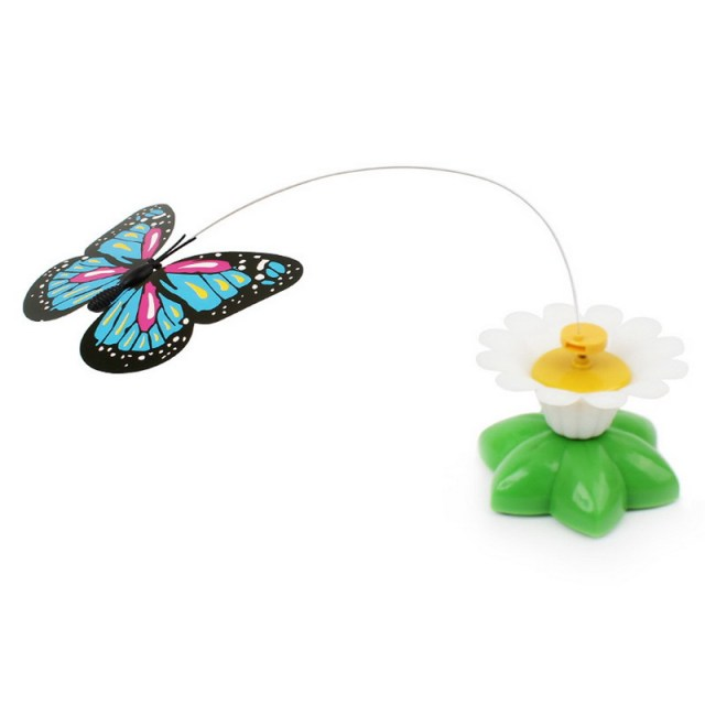 Electrical Rotating Colorful Butterfly Funny Cat Toy