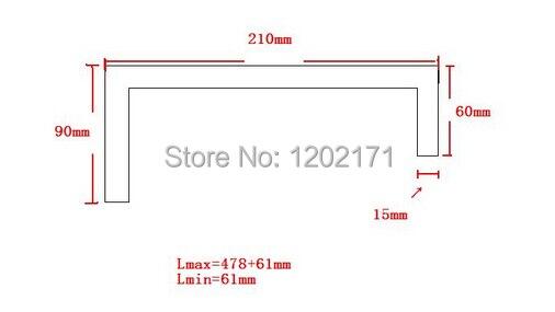 アコーディオントライプルーフナイロン怒鳴るカバーh1 = 90ミリメートルh2 = 60ミリメートルワット= 210ミリメートルlmax = 478 + 61ミリメートル  グループ上の ツール からの 旋盤 の中 1