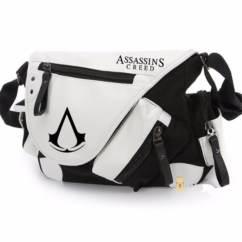 Assassins creed Bolsas De couro Lona saco do Mensageiro Saco de Ombro Saco Ocasional Single Shoulder Bag 70 180cm training fitness mma boxing bag hook hanging saco de boxe kick fight bag sand punch punching bag sandbag
