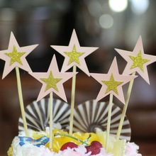 Cake Flags Star Cupcake Cake Topper Toppers Kids Happy Birthday Wedding Bridal Cake Wrapper Party Baby Shower Baking DIY Xmas cake flags happy mother s day best mom cupcake cake topper toppers kids birthday wedding bridal cake wrapper party baking diy