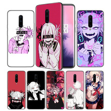 LEWD Sad Japanese Anime Aesthetic Soft Black Silicone Case Cover for OnePlus 6 6T 7 Pro 5G Ultra-thin TPU Phone Back Protective