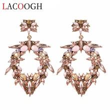 Фотография Lacoogh 2017 New Statement Earring Jewelry Good Quality Colorful Crystal Bohemia Long Big Drop Earrings for Women Brincos F10182