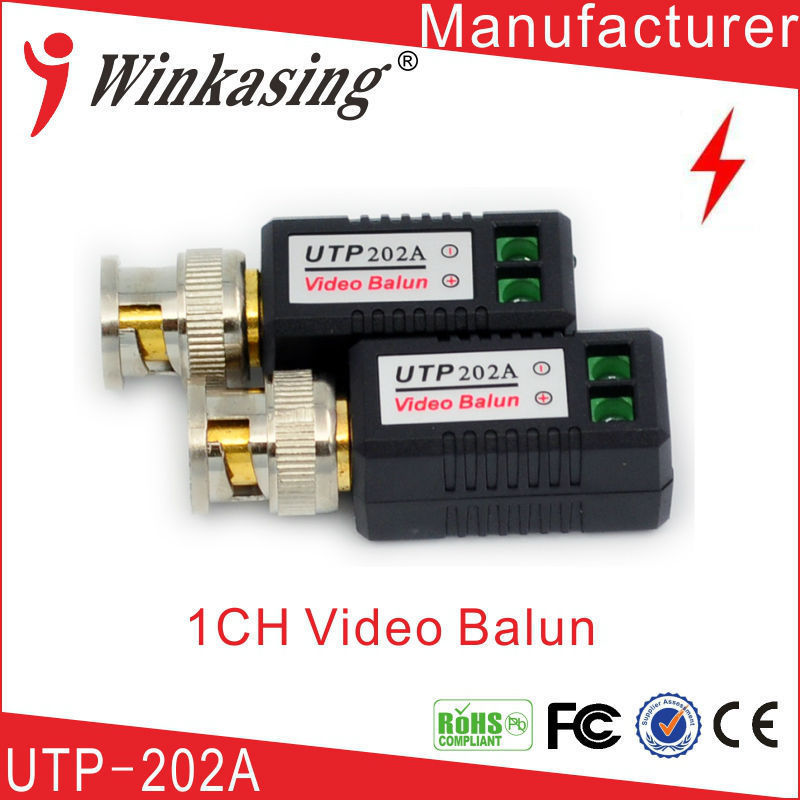 Security video balun twisted BNC twisted pair for CCTV cat5 camera balun BNC