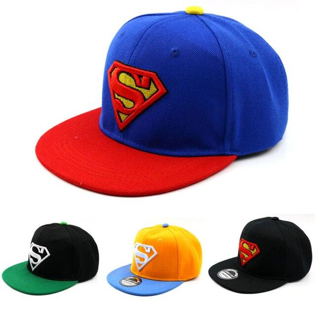 2-8 Years Child Cartoon Baseball Caps Cotton Hip Hop Cap Superman Diamond Embroidery Snapback Hats Baby Kid Hat Boy Girls