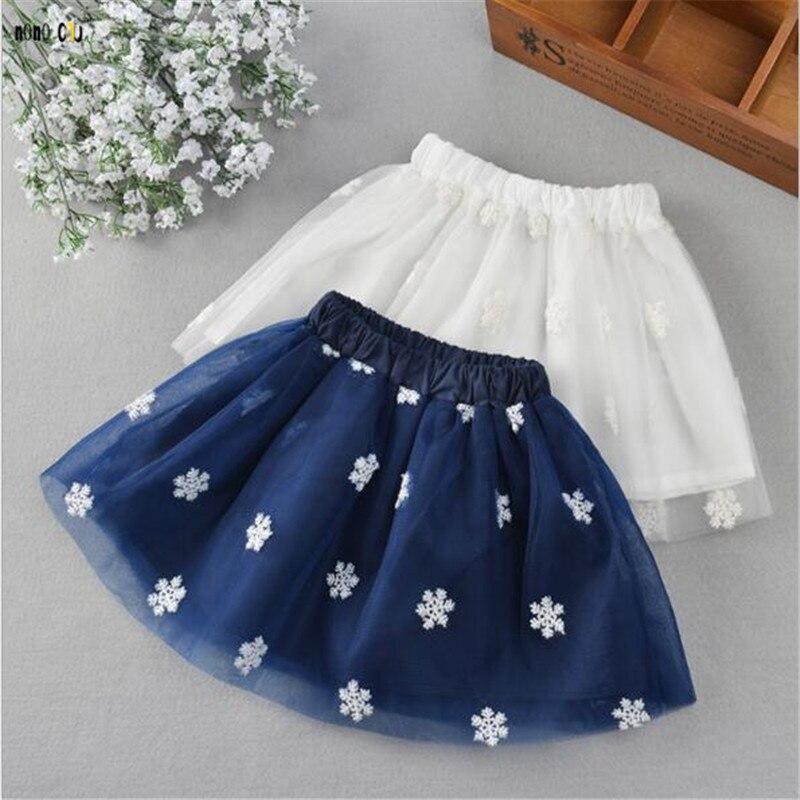 bf933643dcba6 Fashion Embroidery Flower Girl Skirt Elegant Princess All-match Autumn Tutu  Skirts Child Girl Clothes
