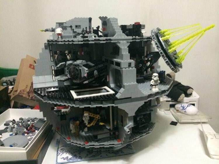 05035 Star Wars Death Star 3804pcs font b Building b font Block Bricks Kid Toys Kits