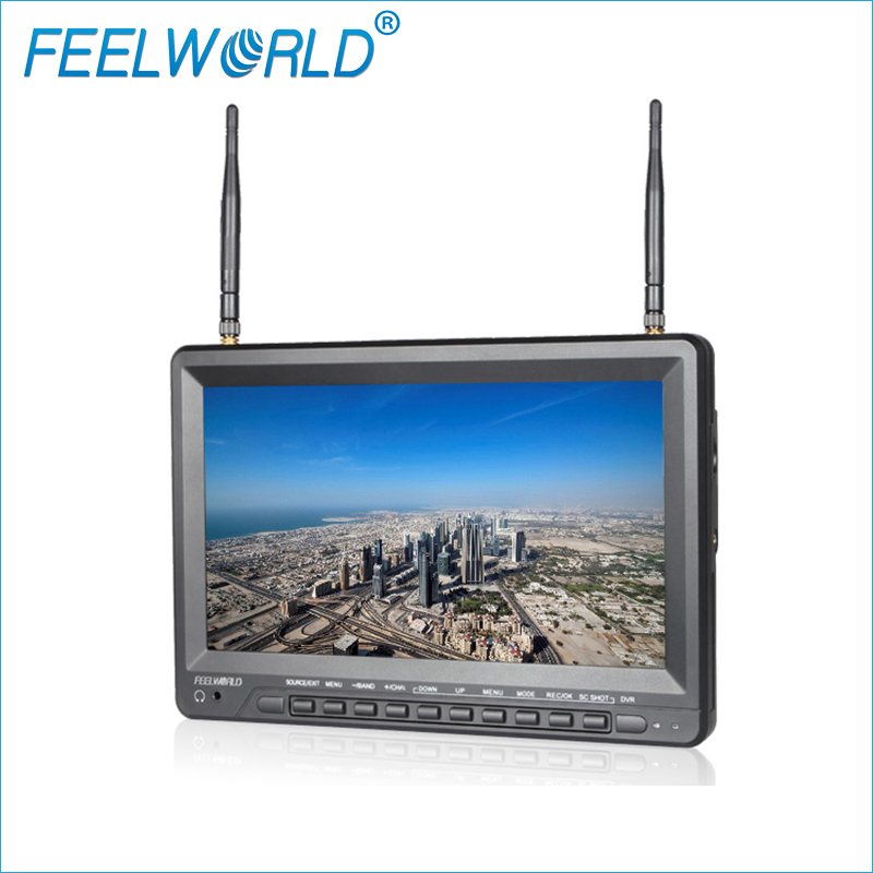 Feelworld PVR1032 10 1 Inch IPS HD FPV Monitor with DVR Built in Battery Dual 5
