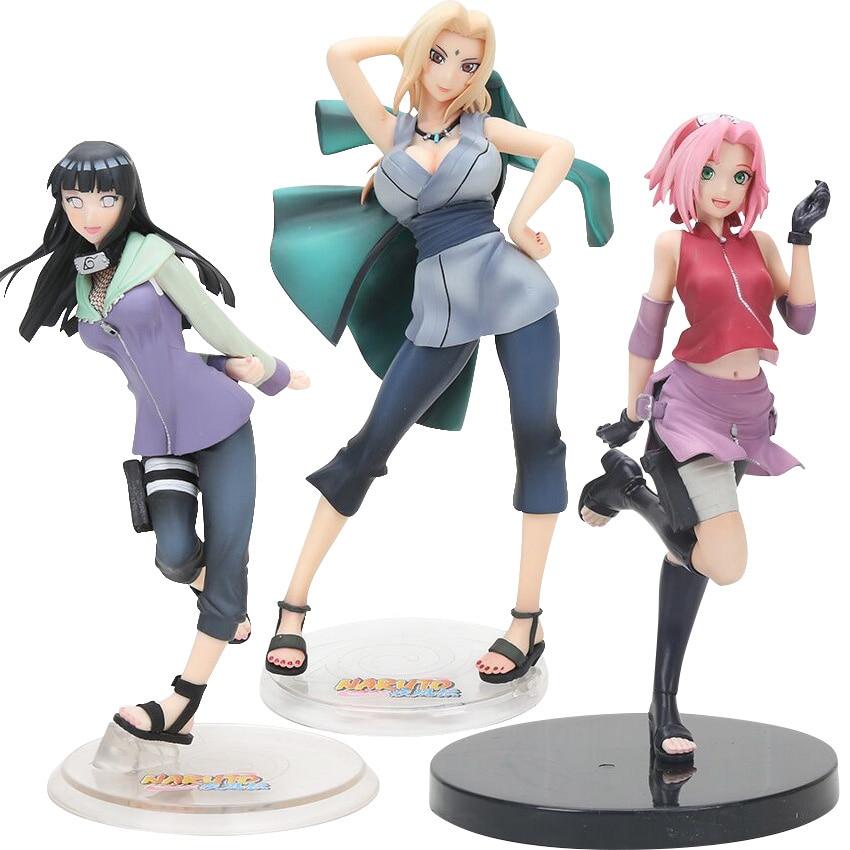 20CM Anime Naruto Gals Naruto Shippuden Hyuuga Hyuga Hinata Figurines