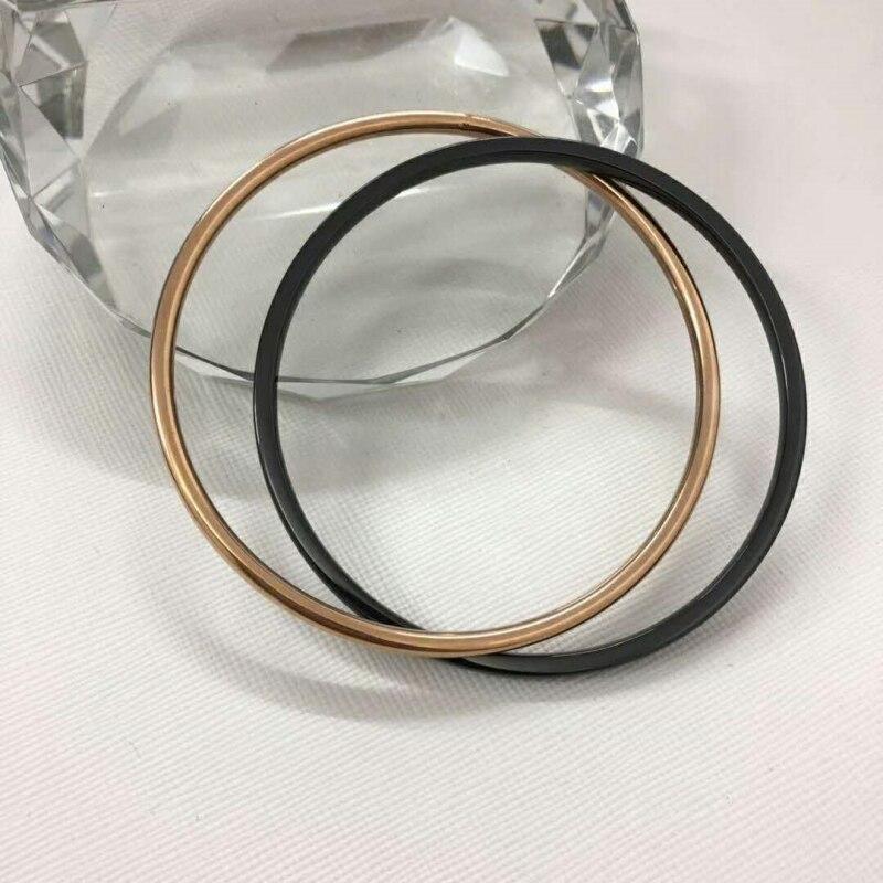 Bracelet pur titane et céramique deux pièces en or rose ou argent et blanc noir Anti fatigue meilleur cadeau fille ou femme