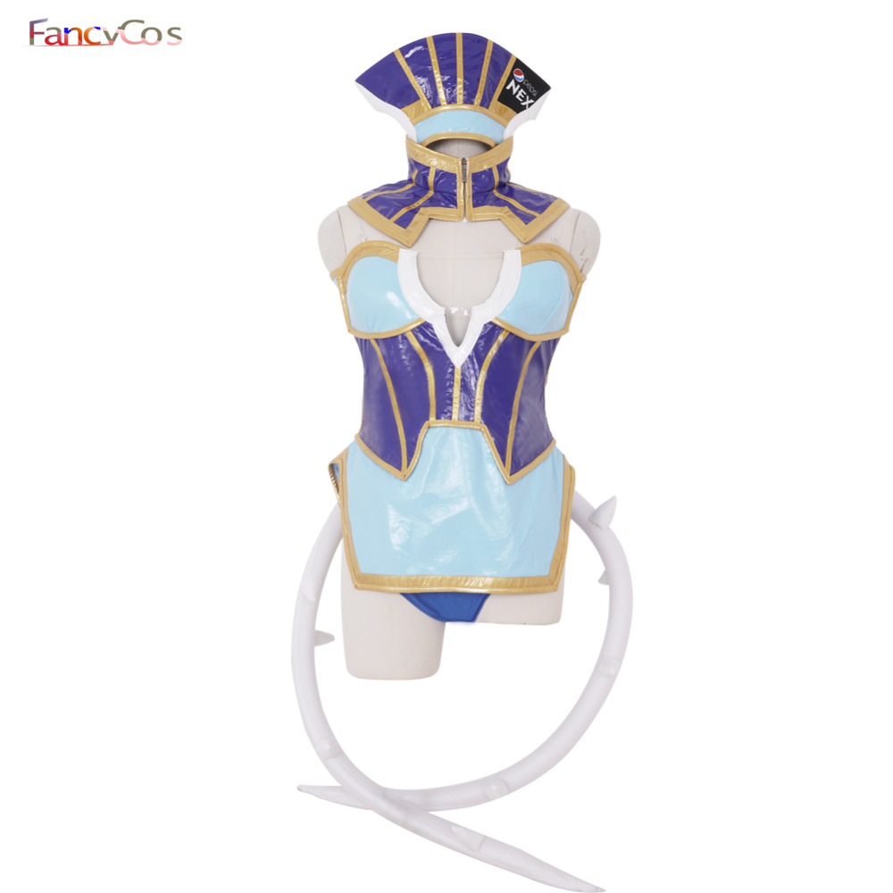 Halloween TIGER & BUNNY Blue Rose Dress Costumes Karina Lyle PU Leather Costume Cosplay Anime movie costume Custom Made