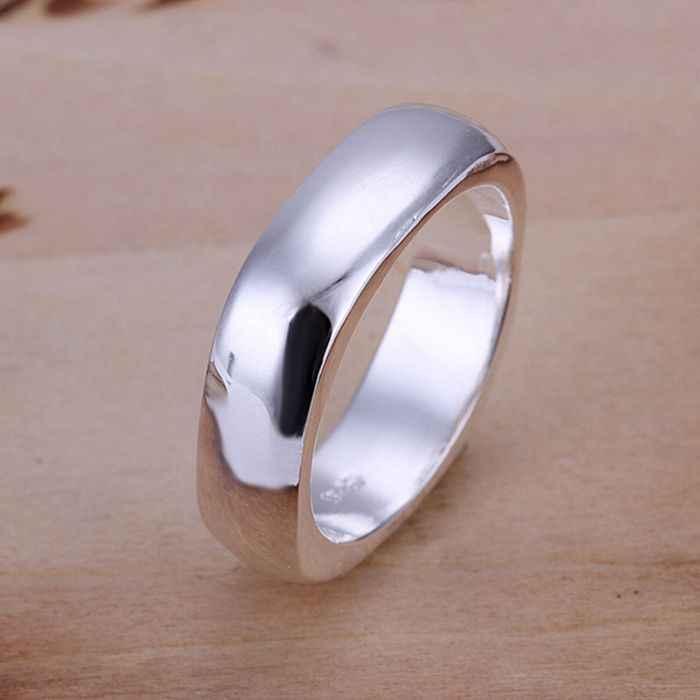 925 joyería anillo Chapado en plata moda fina lindo anillo cuadrado joyería mujeres y anillos para Dedo de hombre calidad superior SMTR004