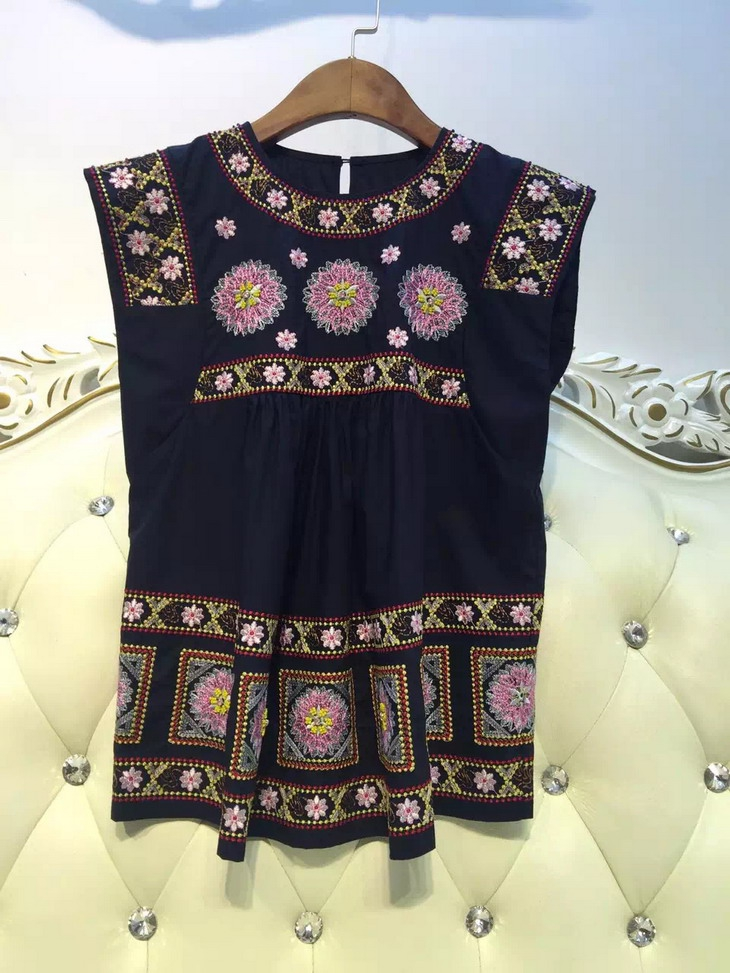 Gorgeous VogaIn Luxury NEW FASHION font b WOMEN b font Short Sleeved Round Neck Embroidery Beaded