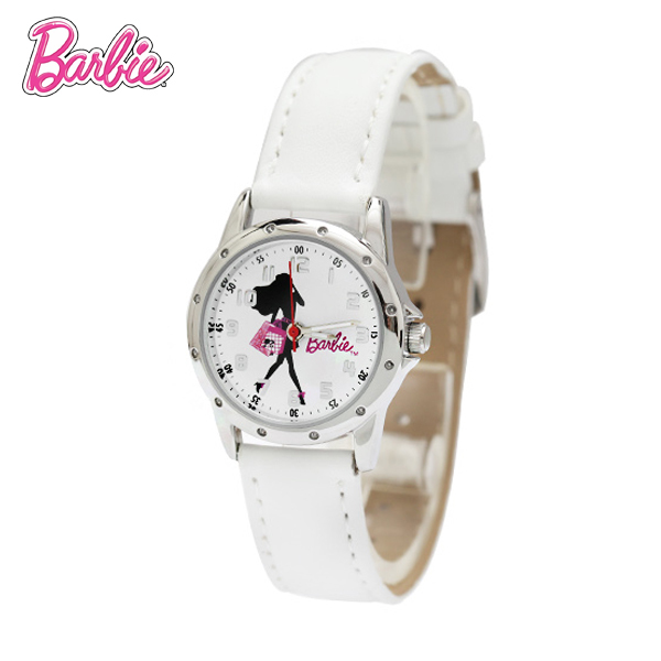 100% Genuine Barbie watch kids Cartoon Watches Girls leather Straps Wristwatch children Quartz watch montre enfant BA00083-1