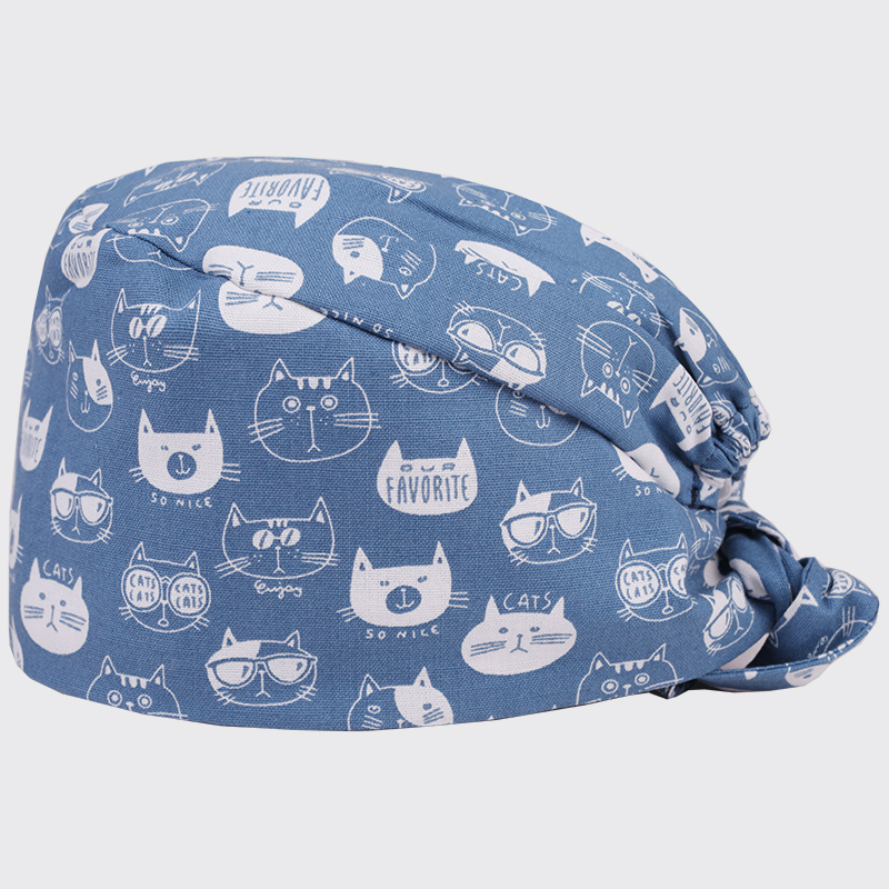 Novelty & Special Use Enthusiastic White Cat Print Surgical Scrub Cap For Women And Men Hospital Medical Hats Doctor Nurse Dentist Work Hat One Size With Sweatband