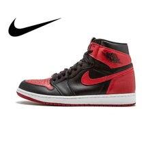 reputable site abf69 0e810 Officiel D'origine Nike Air Jordan 1 Rétro Haute OG AJ1 Hommes de  chaussures de basket Usure baskets résistantes de Sport Design.