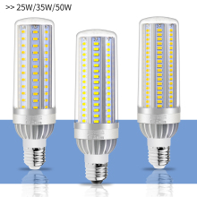 E27 LED Lamp 25W 35W 50W E26 Led 220V Corn Bulb SMD 5730 Aluminum Fan Cooling No Flicker LED Light Bulb 110V Commercial Lighting цена