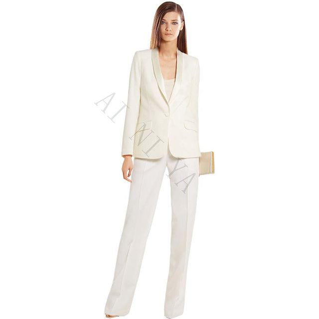 Ivory Women S Business Suits Formal Office Pant Suits Female Work