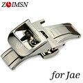 Correas de Reloj 18mm Solid Stainless Steel Watch Band Correa de plata de Metal Hebillas de Cinturón Doble Broche Plegable Relojes Hombre 2017 JAE101