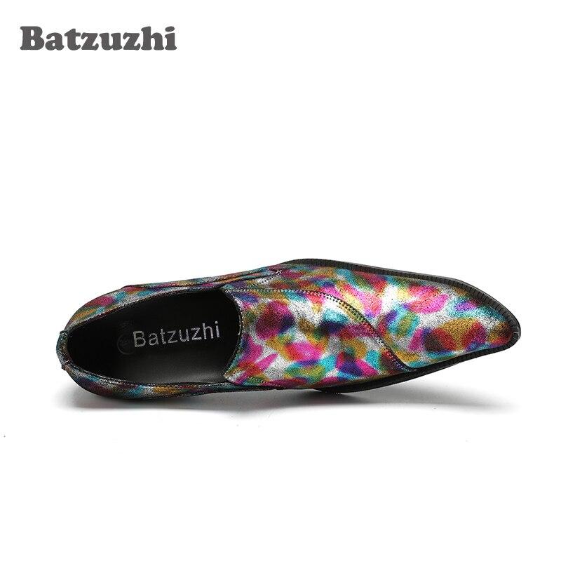 Pie Hombres Us12 De Partido Dedo Mens Color Hombre Cuero Batzuzhi Diseñador Vestir  Para Punta Multiple Zapatos ... e7945c4cfe2