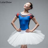 Ballet Dance Leotard Printing Half Sleeve Women Ballet Leotards
