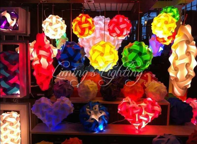 マルチカラー電源コード25センチ/30センチ/40センチ現代diy要素iqジグソーパズルランプ天井シャンデリアペンダントランプライト照明