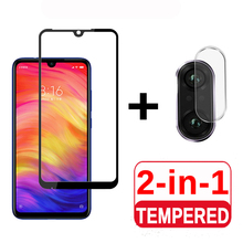 2 in 1 Protective Glass For Xiaomi Redmi Note 7 Camera Screen Protector Safety F