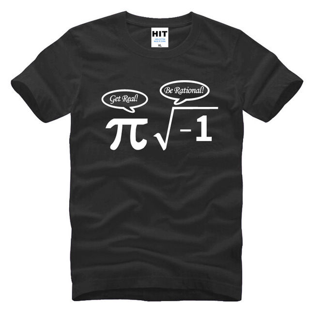 Be Rational Get Real Nerdy Geek Pi Nerd Funny Math Short Sleeve Men TShirt S-3XL