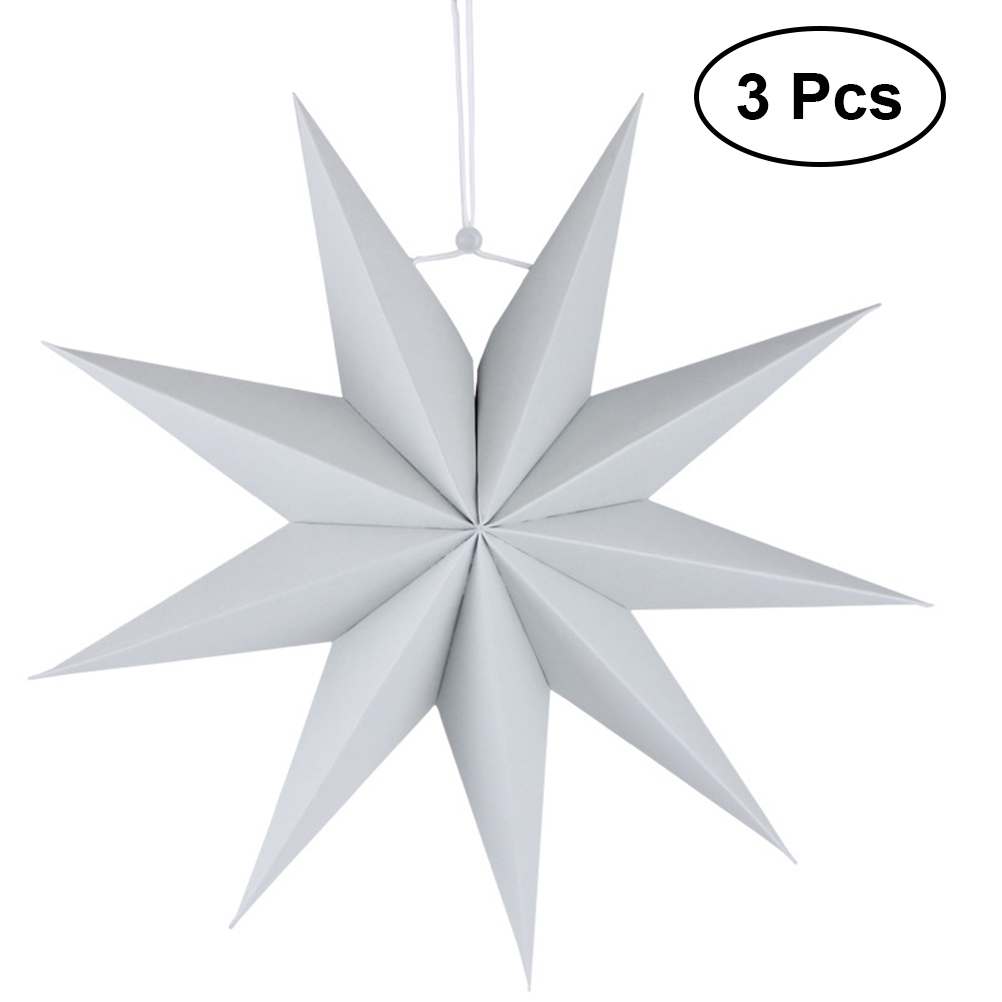 3pcs Paper Lamp Shade Handmade Star Lantern Environmentally Friendly Lamp Accessory 30cm(Grey) pratima bajpai environmentally friendly production of pulp and paper