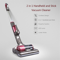 Dibea C01 Upright Wireless Vacuum Cleaner 2 In 1 Powerful Car Cordless Handheld Vacuum Cleaner For