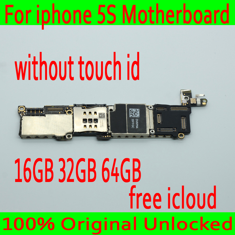 Original unlocked for iphone 5S font b Motherboard b font without Touch ID for iphone 5S