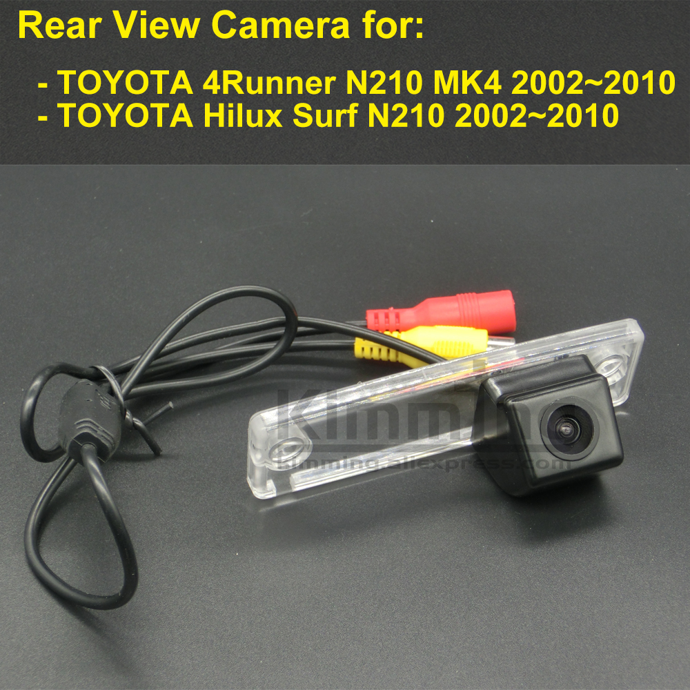 Car Rear View Camera for Toyota 4Runner N210 MK4 Hilux Surf 2002 2003 2004 2005 2006 2007 2008 2009 2010 Wireless Backup Camera image
