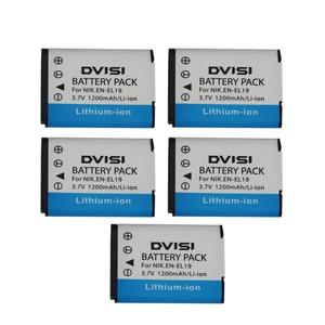 Image 3 - 3.7V 1.2Ah EN EL19 ENEL19 Bateria Da Câmera para Nikon Coolpix S3100 S3200 S3300 S4100 S4200 S4300 S4400 S5200 S6400 S6500
