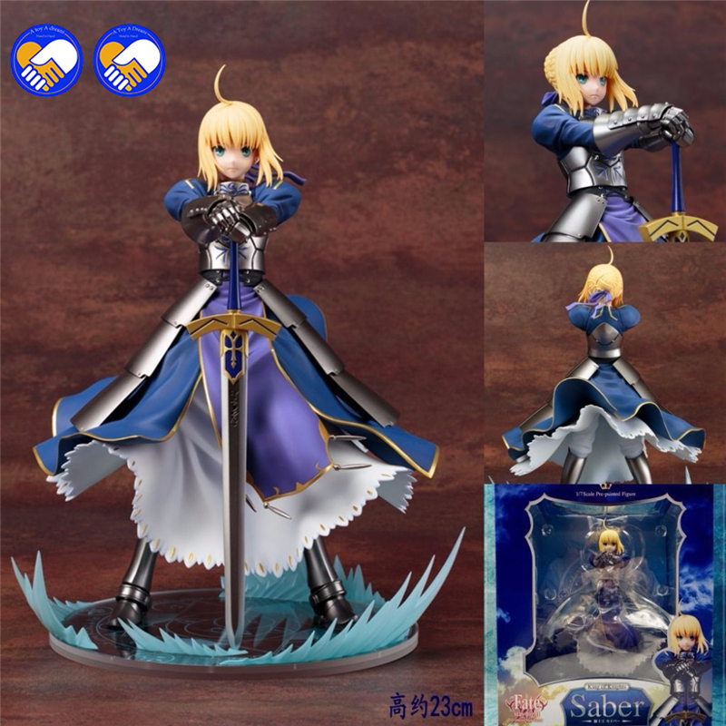 A toy A dream Anime Fate Stay Night Altria Pendragon UBW Saber PVC Action Figures Collectible Model Toys 23cm