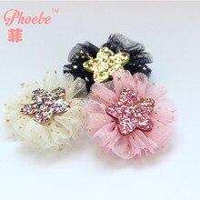 Бутик 30 шт/3C модные блестящие милые звезды с марлевые заколки Kawaii Мультяшные зажимы для волос аксессуары для волос принцессы головные уборы