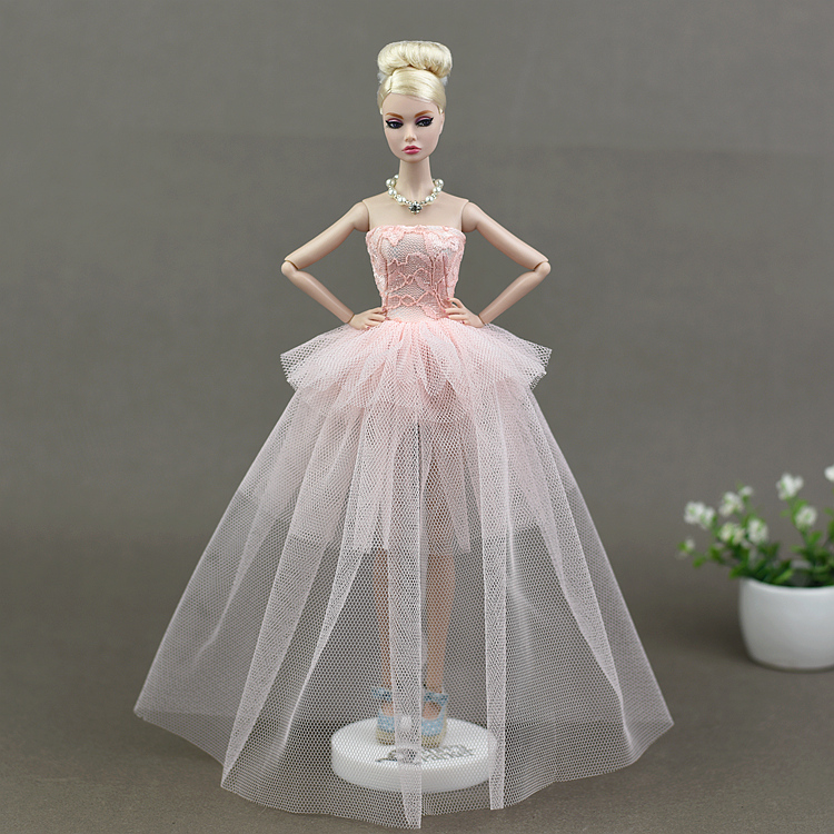 Evening Party Bridal Dress Wedding Clothes for 30cm Dolls or 1//6 Girl Dolls
