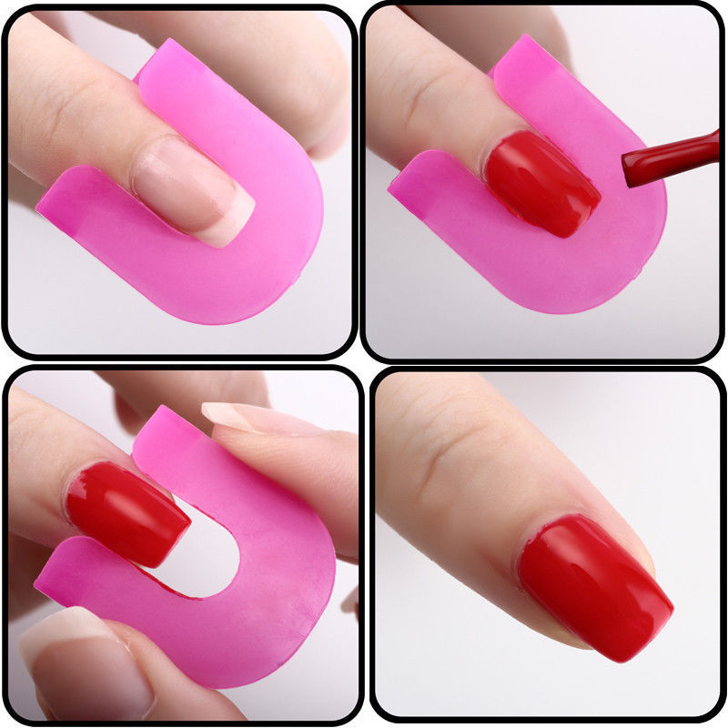 2016 New 26Pcs Pro Manicure Finger Nail Art Case Design Tips Cover Polish Shield Protector Mold Tools In Templates From Beauty Health On