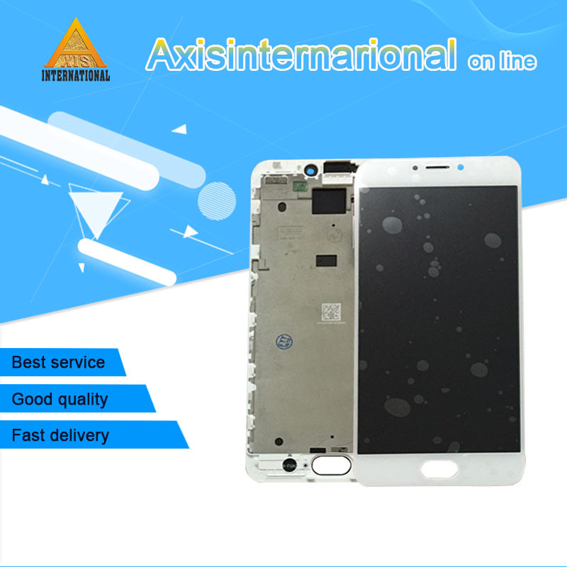 Axisinternational For 5.5'' Meizu MX6 LCD screen display+ Touch Digitizer with frame white/black color Free shipping