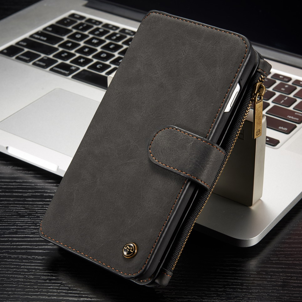Iphone 7 Plus Wallet Case | For IPhone 7 Plus Wallet Case Detachable Folio Magnetic Buttons Genuine Leather Cover Cases For IPhone 5 5S 6 6S 7 6S Plus-in Wallet Cases From Cellphones & Telecommunications On AliExpress