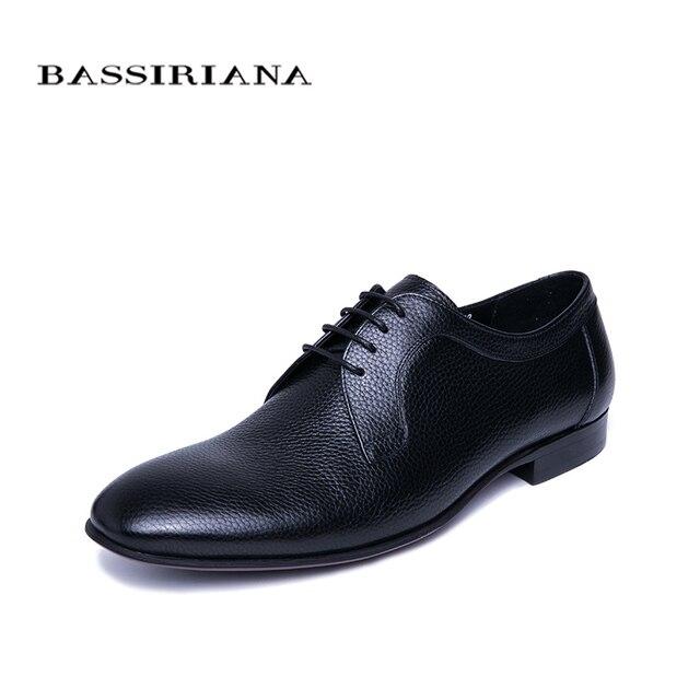 BASSIRIANA/2019 Модная стильная мужская обувь высокого качества Брендовая обувь из натуральной кожи деловые повседневные мужские туфли