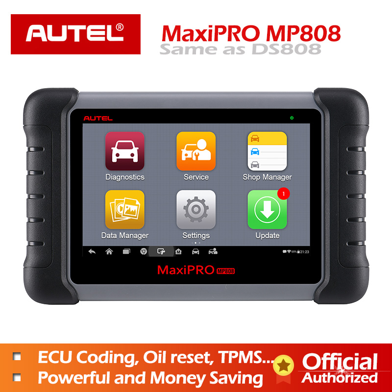 Autel MaxiPRO MP808 Diagnostic Tool OBD2 Professional OE level OBDII Diagnostics Tool Key Coding PK MaxiDAS DS808 DS708  MS906-in Engine Analyzer from Automobiles & Motorcycles