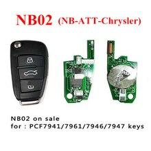 NB02 3 Кнопки Дистанционного Ключа С NB-ATT-Модель Для Chrysler Dodge Jeep Chrysler ключи от машины, может Работать С URG200/KD900/KD200 Машины