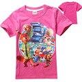 Atacado 5 pçs/lote Zootopia Roupa Do Bebê Da Menina Tops T-shirts 2016 Verão Dos Desenhos Animados Coelho de Manga Curta T Camisa Roupas Para Crianças