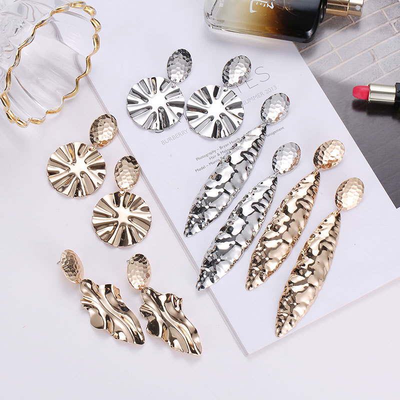 Piercing Golden White Color Mirror Brincos Big Long Earrings For Women Decoration Dangle Earring Boucle D 39 oreille in Drop Earrings from Jewelry amp Accessories