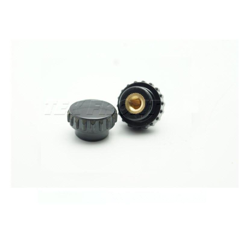 TF01005 --M5*18  Female Thread Knurled,Plastic Knurled Knob Brass Thread Insert,  M5 Diameter 18mm