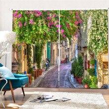 Красивые улочки 3D Затемненные окна шторы s для гостиной постельные принадлежности комнаты шторы для офиса шторы Cortinas Para sala