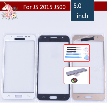 10pcs/lot For Samsung Galaxy J5 2015 J500 J500H J500FN J500F J500M SM-J500F Touch Screen Front Glass Panel LCD Outer Lens image