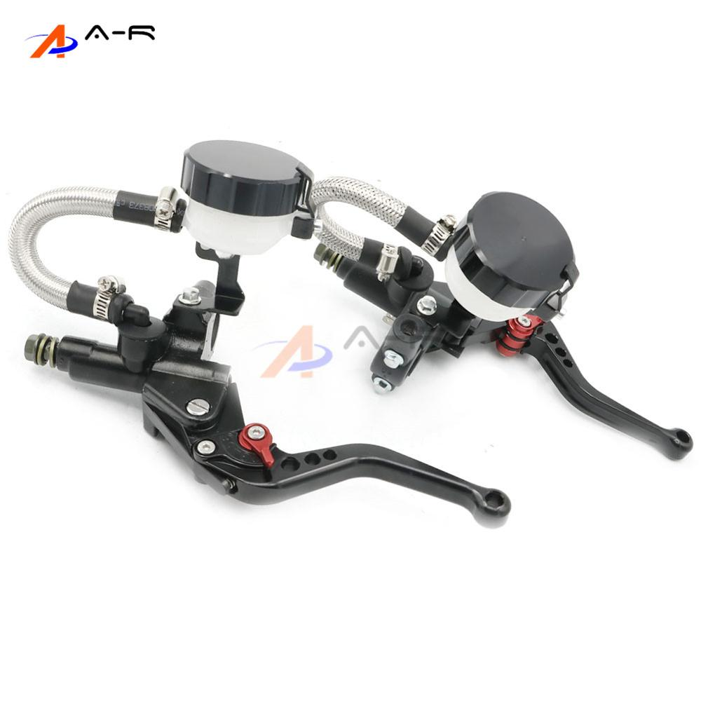 CNC 22MM 7/8'' Clutch Brake Levers Master Cylinder Reservoir for Ducati Monster 400 1997   2004  Monster 600 1997   2001-in Levers, Ropes & Cables from Automobiles & Motorcycles    2
